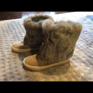 Tory Burch mid calf sneaker boots